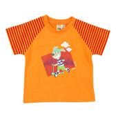 【愛的世界】純棉圓領條紋袖口短袖T恤/4~6歲-台灣製- ★春夏上著  夏殺2折起