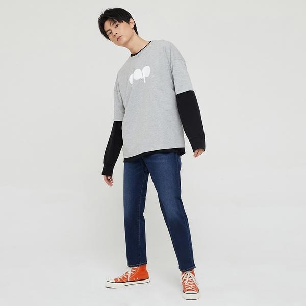 Gap男裝 Logo純棉圓領短袖T恤 732678-淺灰色