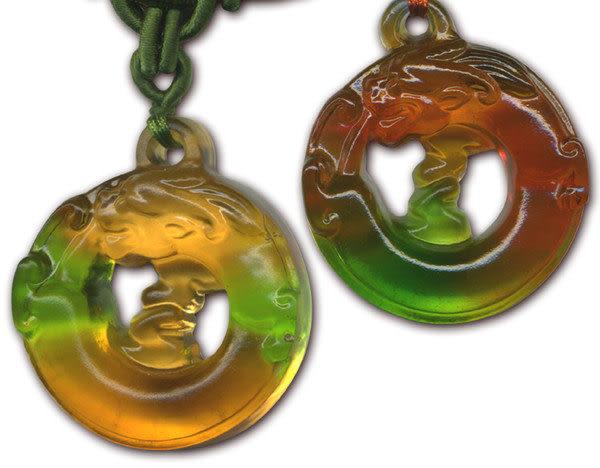 鹿港窯~居家開運水晶琉璃項鍊~螭琥(貔貅)附精美包裝◆免運費送到家