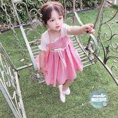 漢服女童 抖音漢服女童超仙女夏裝中國風1歲女寶寶復古改良唐裝襦裙洋裝 2色