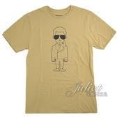 茱麗葉精品【全新現貨】KARL LAGERFELD 卡爾 人物印花造型棉質短T恤.卡其