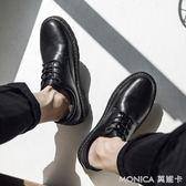 秋季休閒小皮鞋男韓版潮流社會青年鞋子男學生原宿風英倫百搭潮鞋   美斯特精品