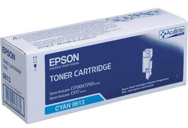 S050613 EPSON 原廠藍色碳粉匣 適用 AL-C1700/C1750N/C1750W/CX17NF