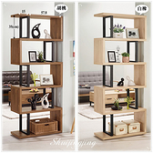 【水晶晶家具/傢俱首選】JM1827-2 柏德2.7*6.5尺展示櫃~~可當玄關櫃使用~~雙色可選