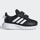 Adidas TENSAUR RUN I 童鞋 小童 慢跑 休閒 透氣 網布 魔鬼氈 黑【運動世界】EG4142