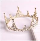 韓式新娘頭飾巴洛克新娘皇冠結婚頭冠婚紗配飾金色皇冠項超級爆品