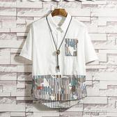 短襯衫 夏季短袖襯衫男士寬鬆半袖襯衣韓版休閒潮男裝寸衫 非凡小鋪