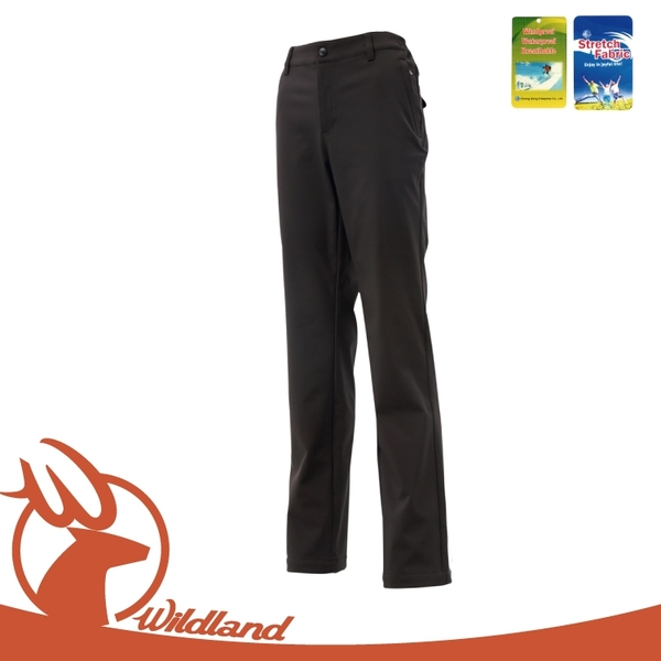 【Wildland 荒野 女 Softshell防風褲《黑》】0A12315/登山褲/防風褲/雪褲