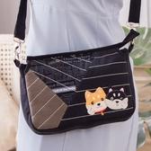 柴犬寶寶 三層 拼布 刺繡 斜背/側背/手拿包【810123】
