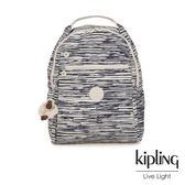 Kipling 線條塗鴉紋多袋實用後背包-MICAH