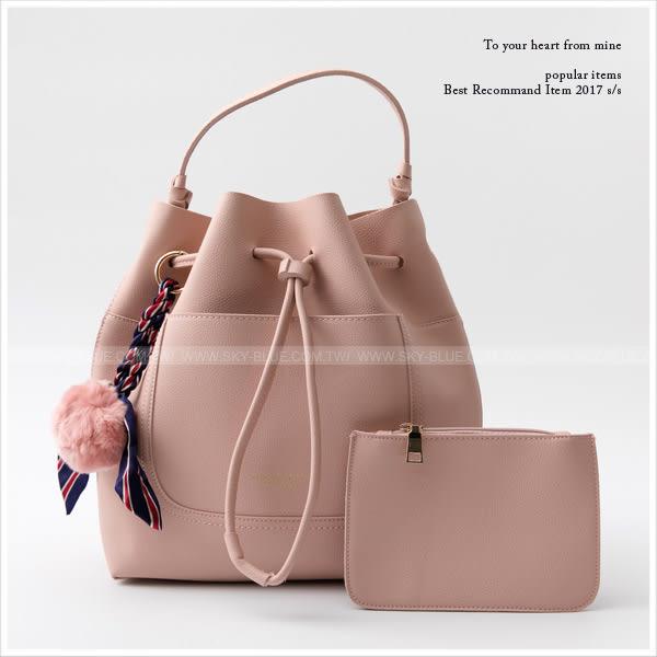 包中包-skyblue自訂束口水桶包中包-共4色-A17171861-天藍小舖