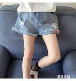 女童牛仔短褲2019新款夏季韓版洋氣大童女孩百搭寬鬆外穿薄款熱褲xy1122【優品良鋪】