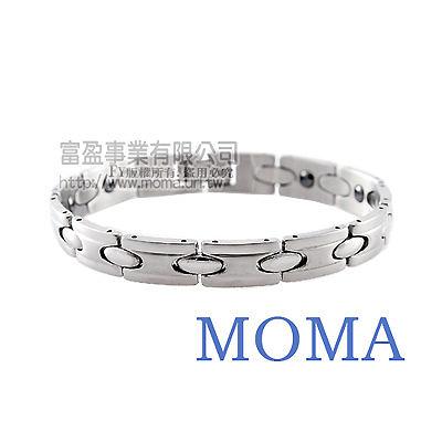 【MOMA】白鋼鍺磁手鍊-尊爵系列MI-12M