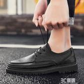 皮鞋 休閒皮鞋男英倫冬季加絨棉鞋男鞋子韓版潮流商務休閒皮鞋男士潮鞋 3C優購