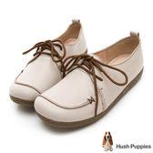 Hush Puppies Grebe 柔軟皮質休閒鞋-白色