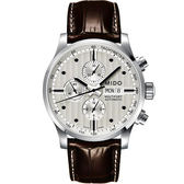 MIDO 美度 Multifort Chrono Valijoux計時碼錶-銀白/44mm M0056141603100