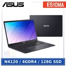 ASUS E510MA-0748KN4120 (15.6 FHD/N4120/4G/128G/Windows 10 Home S) 星夜黑