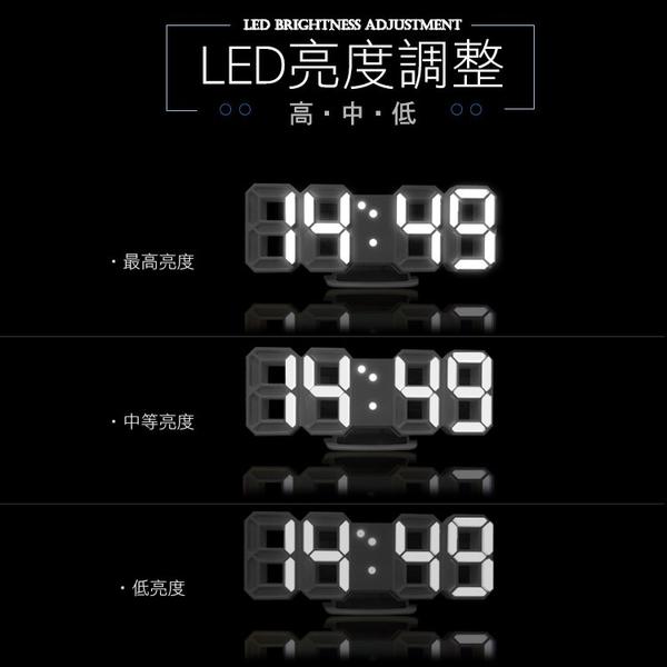 superb 韓國立體數字鬧鐘時鐘 3D時間顯示LED燈(USB供電) 強強滾