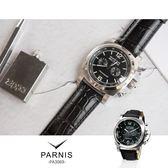 完全計時手錶館│PARNIS 瑞典軍錶風格 大錶徑飛行款計時腕錶 PA3069 情人節 男錶 父親節