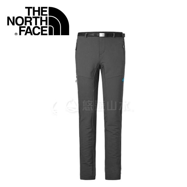 【The North Face 女款 彈性防潑保暖長褲《瀝灰》】364Q0C5/保暖透氣/戶外登山/休閒長褲