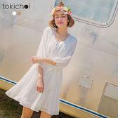 東京著衣-波西米亞唯美修身洋裝-S.M(180319)
