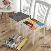【2個裝】坐墊純棉四季椅墊椅子墊餐椅墊防滑座墊【時尚大衣櫥】