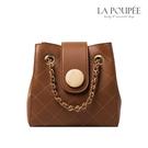 側背包 時髦鍊帶菱格紋小水桶包 4色-La Poupee樂芙比質感包飾 (現貨+預購)