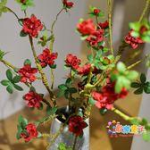 仿真花杜鵑花假花擺件客廳干插花歐式發泡枝室內花束裝飾花瓶花卉 XW