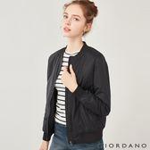 【GIORDANO】女裝MA1刺繡鋪棉飛行外套-01 標誌黑