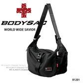 時尚 機能性 插扣式 大側背/ 肩背包  黑色  AMINAH~【BODYSAC B1201】