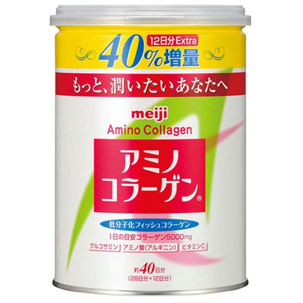 Meiji Amino 膠原蛋白粉 40天份加量版(罐裝284g)【小三美日】※禁空運