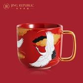 共禾京品中國風創意情侶陶瓷國潮送禮辦公室水杯子帶勺喝水馬克杯 台北日光