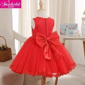 童裝兒童公主裙女童夏裝洋裝中大童寶寶周歲蓬蓬裙花童婚紗禮服