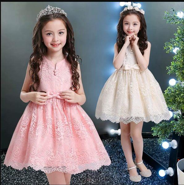 花童禮服 公主裙六一兒童節小主持人鋼琴演奏拖尾