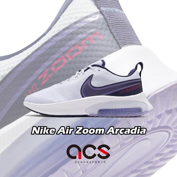 Nike 慢跑鞋 Air Zoom Arcadia GS 藍 紫 女鞋 大童鞋 氣墊 運動鞋 【ACS】 CK0715-006
