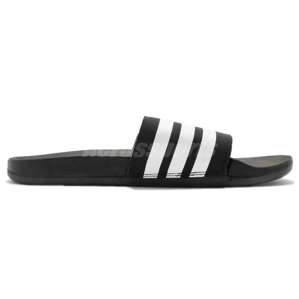 adidas 拖鞋 Adilette Comfort 黑 白 基本款 黑白 舒適好穿 男鞋【ACS】 AP9971