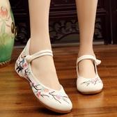 老北京布鞋女 中國風繡花鞋漢服搭配低跟單鞋古裝鞋子 降價兩天