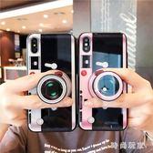 iphonex手機殼 創意復古照相機iphone氣硅膠套 ZB824『時尚玩家』