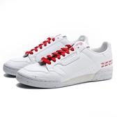 ADIDAS 休閒鞋 ORIGINALS CONTINENTAL 80 白紅 環保字句 皮革 男 (布魯克林) FU9787