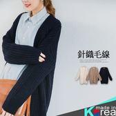 哈韓孕媽咪孕婦裝*【HA5986】正韓製.粗針織百搭開襟外套
