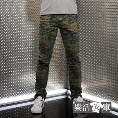 【2025】菁英之選戰術迷彩小直筒休閒長褲(綠色)● 樂活衣庫
