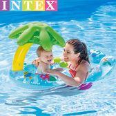 INTEX母子遮陽游泳圈嬰兒寶寶兒童腋下坐圈動物水上充氣坐騎1-3歲igo 晴天時尚館