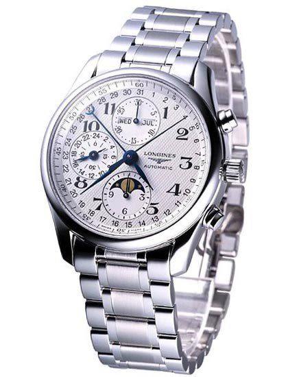 LONGINES Master 巨擘 月相盈虧全日曆計時碼錶 鋼帶 L26734786