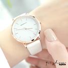 Lacuna.REBIRTH品牌。簡約百搭素面細刻度皮革錶帶手錶【ta068】911 SHOP