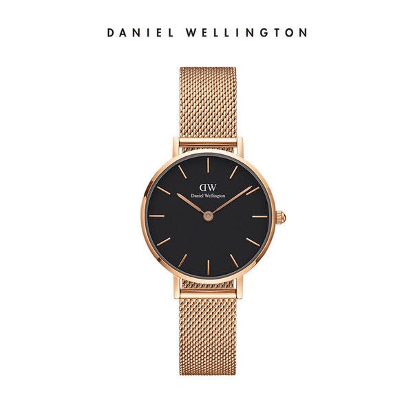 DW手錶 官方旗艦店 28mm玫瑰金框 Classic Petite 香檳金米蘭金屬編織  - Daniel Wellington
