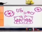 壁貼【橘果設計】粉紅豬 DIY組合壁貼/...