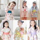 日式和服浴衣洋裝 和風 附腰帶 女童 連...