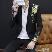 男士韓版修身西服男夏季帥氣個性小西裝夜場男裝休閒西裝薄款外套