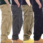 潮流長褲 純棉工裝褲男潮牌休閒褲束腳褲鬆緊腰長褲多口袋寬鬆高腰褲大碼裝