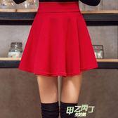 大尺碼女裝半身裙胖MM短版裙子百褶裙A字褲裙水兵舞短裙